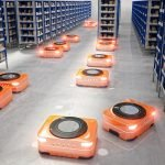 Autonomous mobile robots in factory