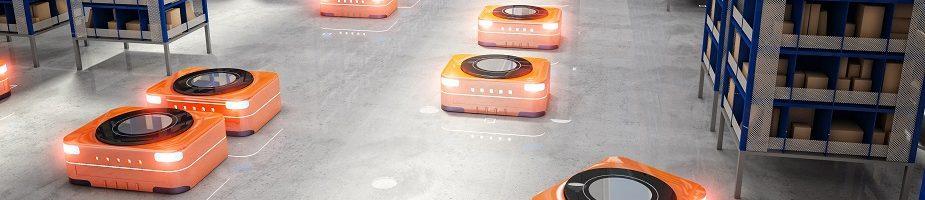 Autonomous mobile robots in factory