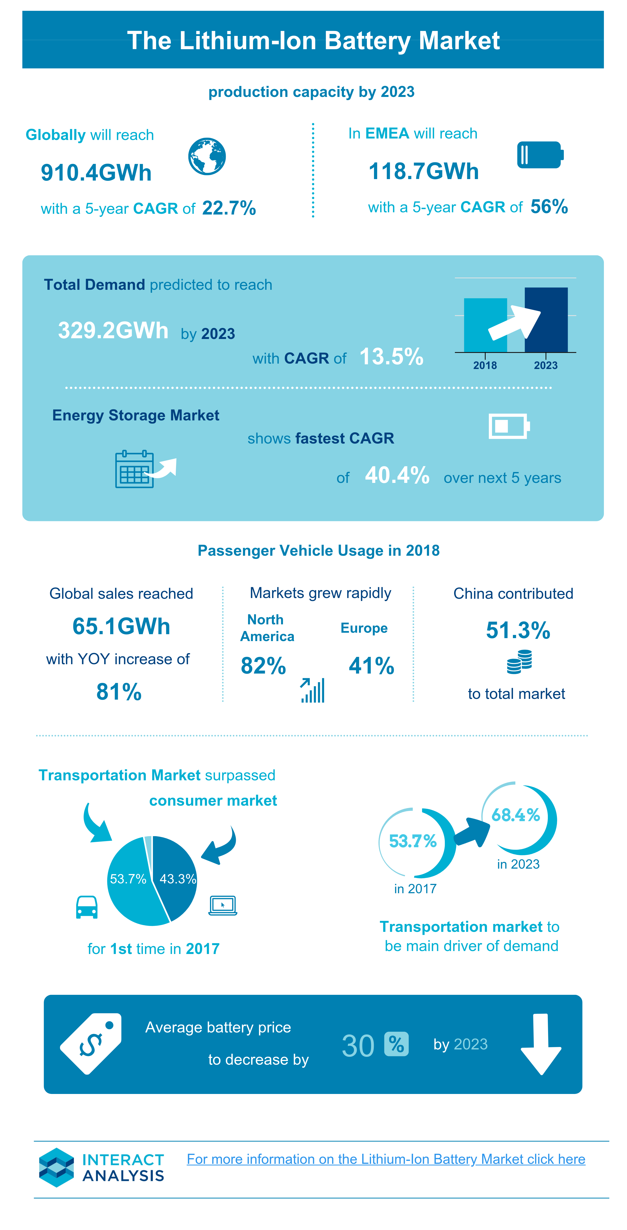 The Lithium Ion Battery Market Infographic
